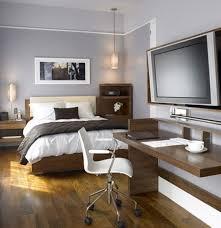 masculine bedroom with office design bedroom office design
