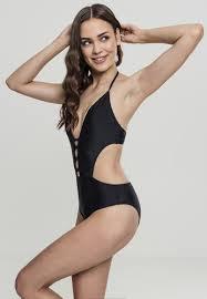 <b>Купальник URBAN CLASSICS</b> Ladies Lace Up Swimsuit Black ...