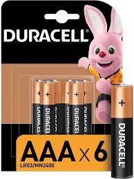 Купить <b>AAA Батарейка</b> DURACELL Basic LR03-6BL MN2400 в ...