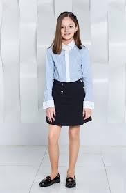 <b>Блузка</b> со съемным декором для <b>девочки</b> в голубую полоску ...