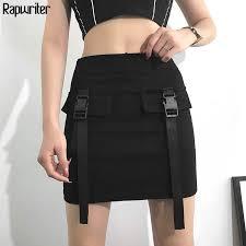Online Shop Rapwriter Side Pocket <b>Korean</b> Harajuku Zipper Knitted ...