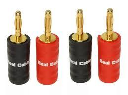 <b>Разъем Real Cable Banana</b> B7210-2C 4PCS - GuitarStuff
