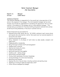 store manager job description resume getessay biz retail job description for resumepinclout templates and inside store manager job description