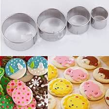 4Pcs Stainless Steel Round Circle Cookie Fondant ... - Amazon.com