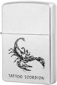 <b>205 Tattoo Scorpion Зажигалка Zippo</b>, Satin Chrome