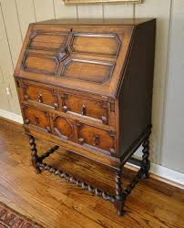 antique english barley twist desk secretary jacobean orig hardware patina old ebay antique english country armoire circa 1830s