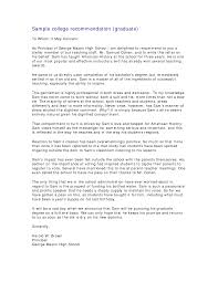 recommendation letter for graduate school from friend recommendation letter sample