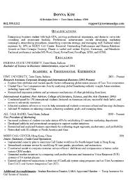 Resume Example College Student     chronological resume sample for