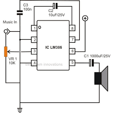 how to build small  simple audio amplifiers using ic lm  circuit description