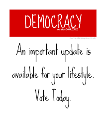 democracy update available vote today  domestic empire democracy version  an important update is available for your lifestyle vote today