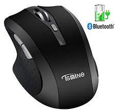 Rechargeable <b>Bluetooth Wireless Mouse</b> - Tsmine <b>Silent</b> Click ...