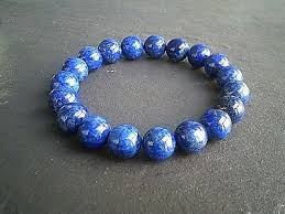 Lapis Lazuli <b>10mm</b> Gemstone Bracelet <b>Egyptian Blue</b> Agate Crystal ...