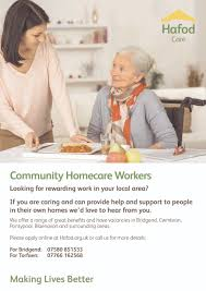 care community homecare worker hafod care community homecare worker