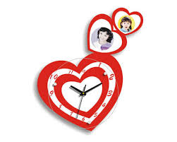 Image result for red heart shape clock