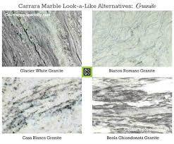 countertops granite marble: four granite countertop colors that look like carrara marble