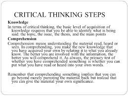 CriticalThinking org   Critical Thinking Model
