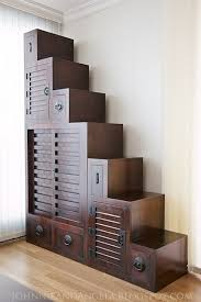 japanese furniture a type of tansu from edo period known as kaidan dansu building japanese furniture