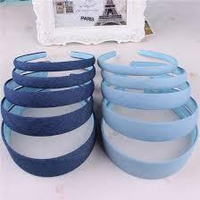 Hot Sale <b>New Fashion</b> Korean Jeans Hairbands <b>Handmade</b> Blue ...