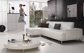 contemporary white living room set fascinating sporty and spacious apartment interior design styles with girl activity all white furniture design