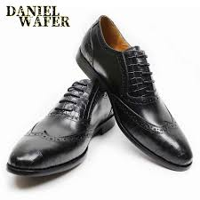 LUXURY <b>MEN</b> FORMAL LEATHER SHOES WINGTIP <b>POINTED</b> ...