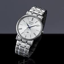 seiko watch premier men collections small second hand