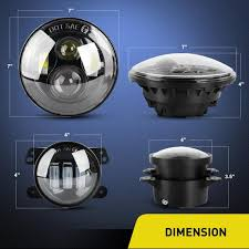 Nilight <b>2PCS</b> 7 Inch LED <b>Headlights</b> and <b>2PCS</b> 4 Inch LED <b>Fog</b> ...