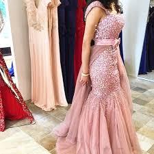 Dusty Pink Arabic <b>Heavy Beaded Mermaid Luxury</b> Prom Dresses ...