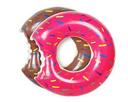 Buy UClever 2 Packs Donut Pool Float <b>Inflatable</b> Swimming Ring ...