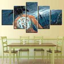 Wall <b>Art</b> Modern Prints <b>Modular Pictures</b> 5 Set Poster Anime Seven ...