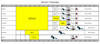 primary school kids schedules nicole time table 2012