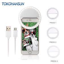 Usb Charging <b>Selfie Ring Flash Led</b> Fill Light Mobile Phone Lens ...