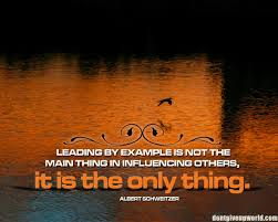 motivational on leadership leading by example is not motivational on leadership leading by example is not the main thing in influencing others
