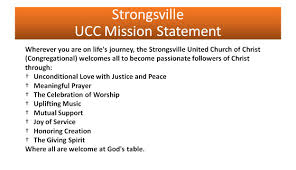 vision and mission statements strongsville united church of christ vision and mission statements