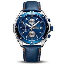 <b>MEGIR Men</b> Business Analogue Quartz Watch with <b>Fashion</b> Leather ...