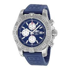 Breitling Super Avenger II Automatic <b>Chronograph</b> Blue Rubber ...