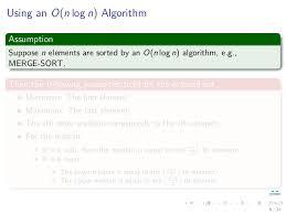 Analysis of Algorithms  Order Statistics SlideShare