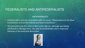 ratification and the bill of rights take notes ppt federalists and antifederalists antifederalists antifederalists sent out a pamphlet the essay observations on the
