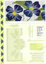 on | Цветы, вышитые крестиком, Схемы для <b>вышивки</b> крестиком ...