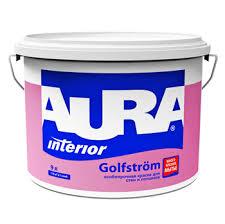 "<b>Краска в/д</b> для стен и потолков особопрочная ""<b>Aura Golfstrom</b>"" 9 л ..."