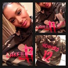 Dwight Howard's girlfriend dons 'Laker hater hoodie. Taking to Twitter, Vest apologised for any offence the hoodie - which had Howard's name featured on the ... - george-flood-lakers