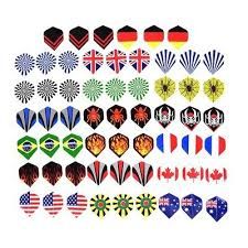 <b>60pcs</b>/<b>lot</b> dart flights in <b>20</b> kinds of patterns darts fin feather ...