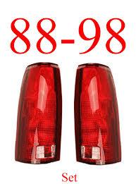 81 87 91 chevy gmc truck 4pc light kit tails fender lights 88 98 chevy gmc tail light set