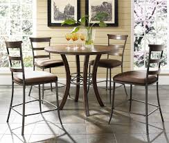 counter height table chairs piece hillsdale cameron round wood counter height table wilsons furniture pu