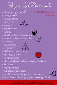 signs of burnout successful social workers and therapists signs of burnout burnout socialworkcoaching com
