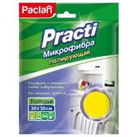 <b>Салфетка</b> из микрофибры <b>PACLAN</b> трехслойная губчатая <b>PRACTI</b>
