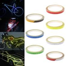 safety warning light patch fluorescent colors bike night cycling reflector tape bicycle reflective stickers protective sticker