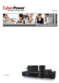 Каталог однофазные ИБП <b>CyberPower</b>   manualzz.com