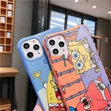 US Anime <b>Happy</b> Cartoon Cute Patrick Star <b>Baby phone</b> case for ...