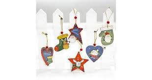 6x <b>Christmas</b> Wooden Tree <b>Hanging</b> Ornament <b>Decoration Xmas</b> ...