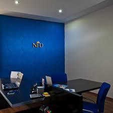 3d wall panels in office in slovakia by mywallart 3d wallpanel blue office walls